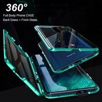 Full Body Cover Case Voor Oneplus 7 Pro Magnetische Case Voor Een Plus 7 Pro Case Voor + Back dubbele dubbelzijdige 9H Gehard Glas Case