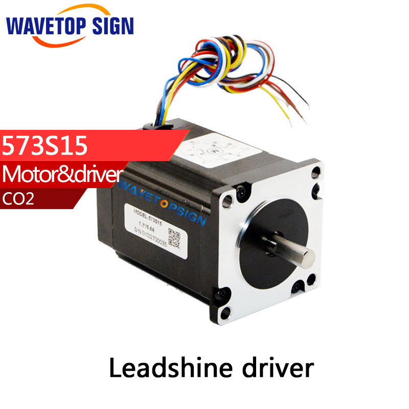 Leadshine 3 phase Stepper Motor step angle 1.2 Current phase5.8A holding torque1.3nm 573S15 for NEMA23  цена и фото
