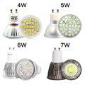 GU10 Super Bright LED 220 V 110 V 4 W 5 W 6 W 7 W Lâmpada vidro de alumínio spot light Branco/Branco Quente GU 10 Base de Lampada LEVOU Lâmpadas