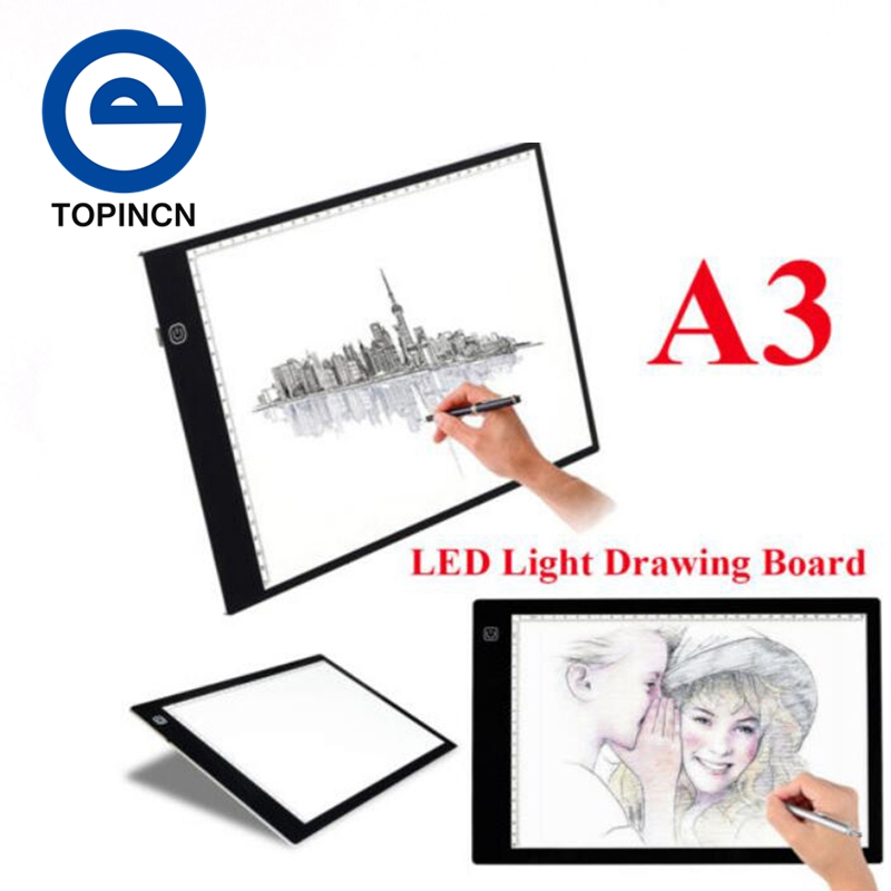 Ultradünne LED Digitale Zeichnung Bord A3 Artcraft Tracing-Pad Licht Box Künstler Tattoo Zeichnung Skizze Bord Display Kunst Sets