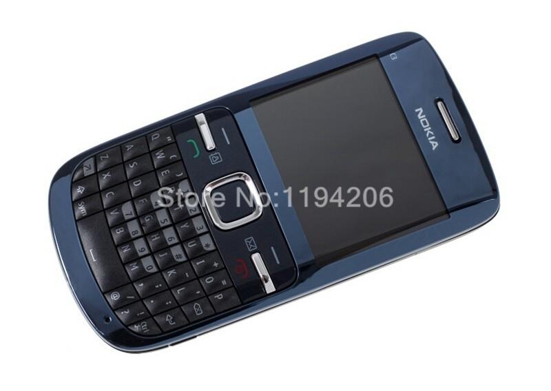 Refurbished nokia c3-00 WIFI 2MP bluetooth camera Jave unlocked phone blue 1