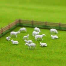 AN8703B 100 pcs 1: 87 sem pintura Branca Farm Animals Sheep Collie Pastor HO Modelo Em Escala Cenário Aminals Frete Grátis