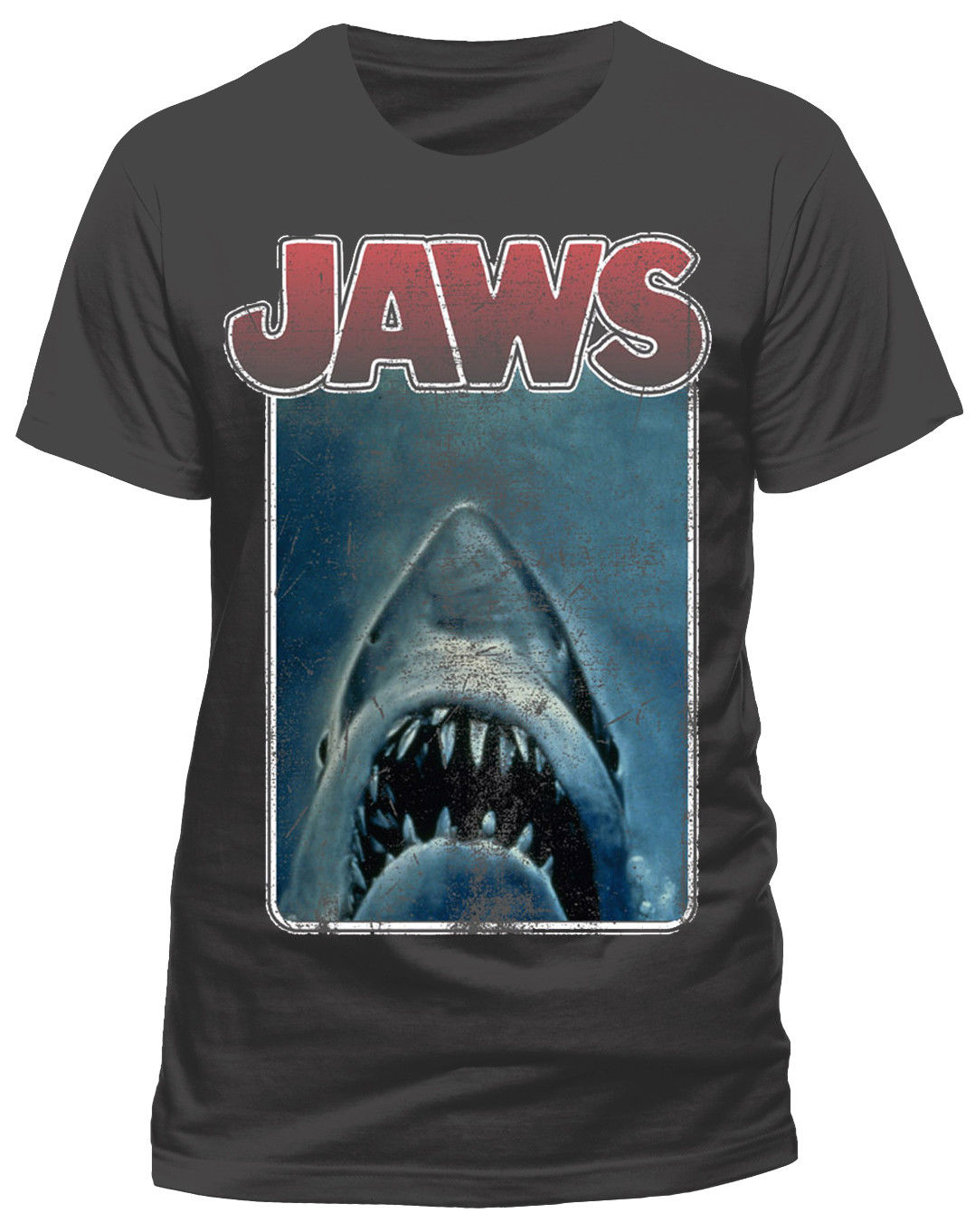 JAWS VINTAGE POSTER T-SHIRT - NUOVO E ORIGINALE