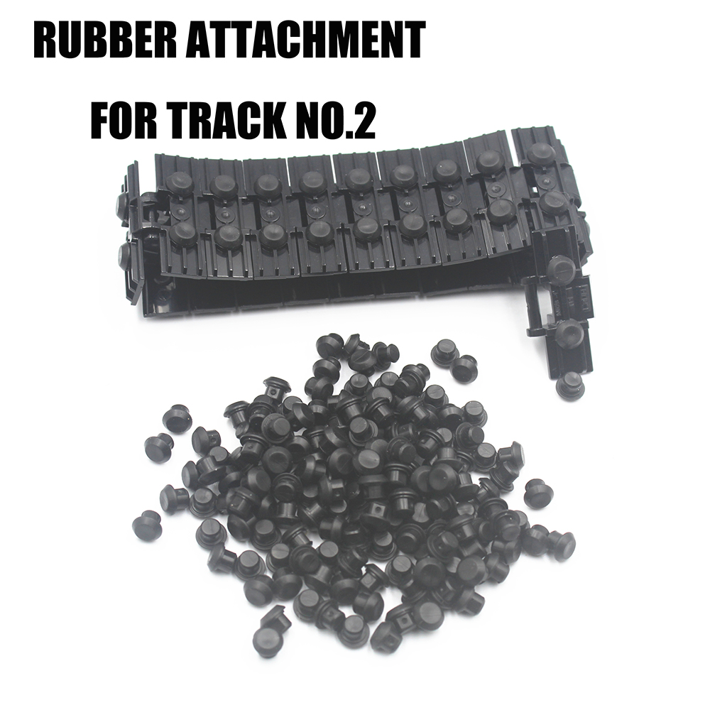 MOC Technic Parts Rubber Stopper Building Blocks Bricks Thread ATTACHMENT For Caterpillar Track Compatible With Lego Toys 24375