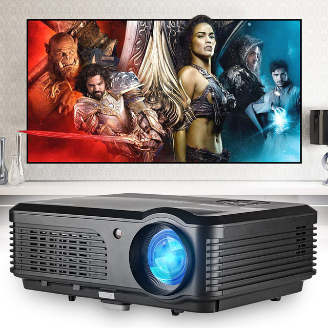 Mobile LCD LED Projector Home Theater 4200 Lumens Beamer Full HD Video Projeksiyon Display Proyector for Smartphone Laptop TV