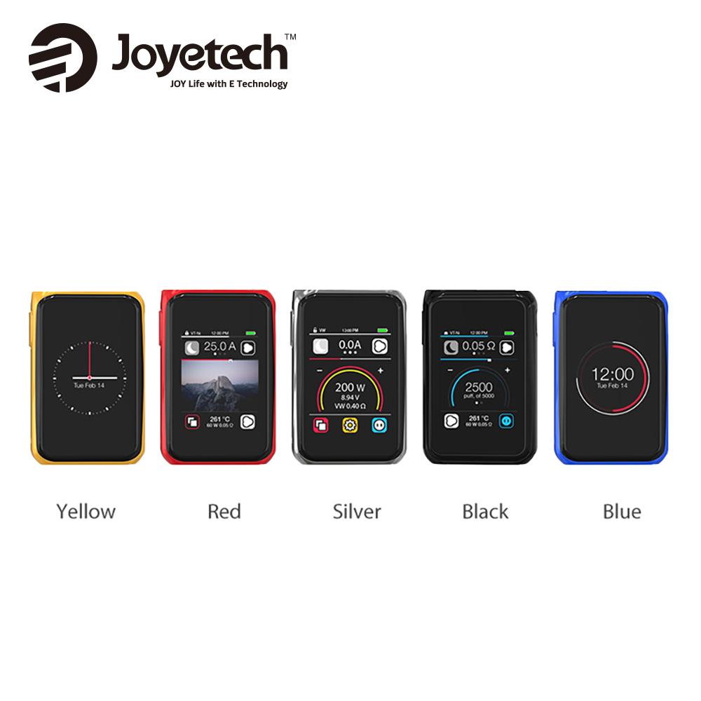Original 200W Joyetech CUBOID PRO Touch Screen TC MOD Big Responsive Color Touch Screen Max 200W No18650 Battery Vs Luxe Mod
