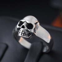 S925 Silver Skull Ring Mens Silver ring finger ring female retro lovers
