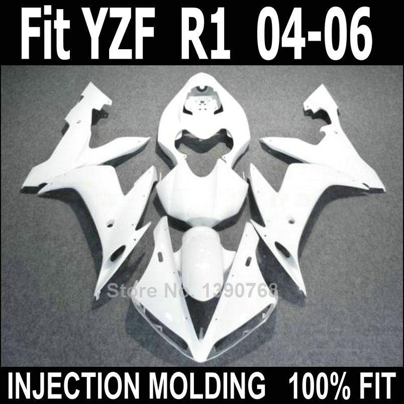 Bodywork kit for Yamaha injection molded fairings YZF R1 2004 2005 2006 white body work fairing kit YZFR1 04 05 06 NV16