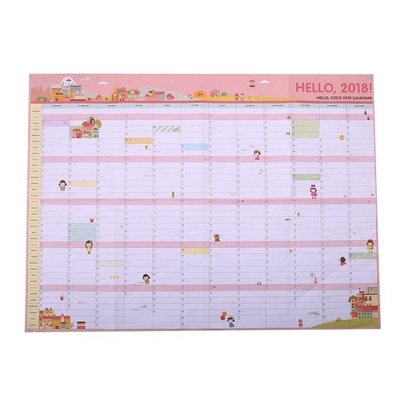 Kalender, Planer Und Karten 1 Stücke Nette Cartoon Wand Kalender 100 Tag Anime Yin Yang Master Kalender Kreative Schreibwaren Zeitplan Planung Papier Liefert