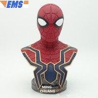 Статуя Мстители Бесконечность войны Человек паук Питер Бенджамин Паркер супергерой бюст Железный Паук анимационная фигурка GK игрушка 18 см