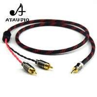 ATAUDIO Hifi Canare 3.5mm do 2RCA Audio Cabler PC telefon komórkowy wzmacniacz połączenie wysokiej jakości gniazdo 3.5, aby kabel RCA