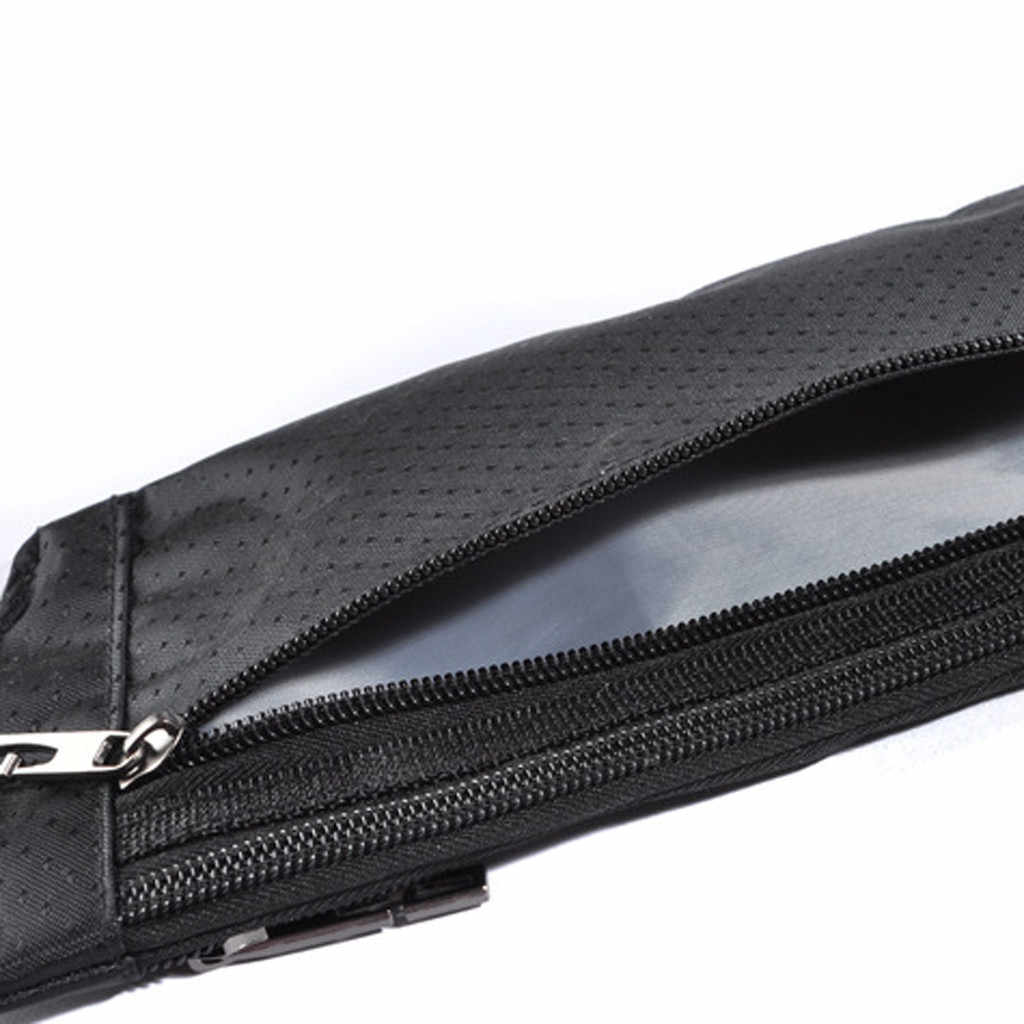 Hombres y Mujeres Simple ocio sólido impermeable Deporte Fitness cintura paquetes bolso pecho caja cinturón chicos chica bolsa gran venta # R5