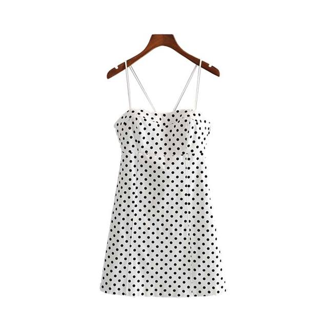 Women Dot Print Mini Dress...