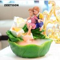 110V 240V Resin Feng Shui Water Fountain Fish Tank SPA Atomizer Air Humidifier Creative Romantic Tabletop Ornament Wedding Gift