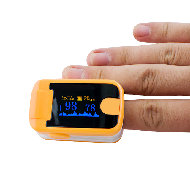 Free Shipping Multi-Colors OLED Fingertip Pulse Oximeter Audio Alarm Pulse Sound Spo2 Monitor For Old People Finger Oximeter