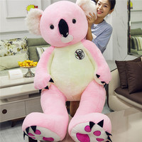 stuffed fillings toy huge 140cm lovely pink koala plush toy soft doll sleeping pillow Christmas gift w0723