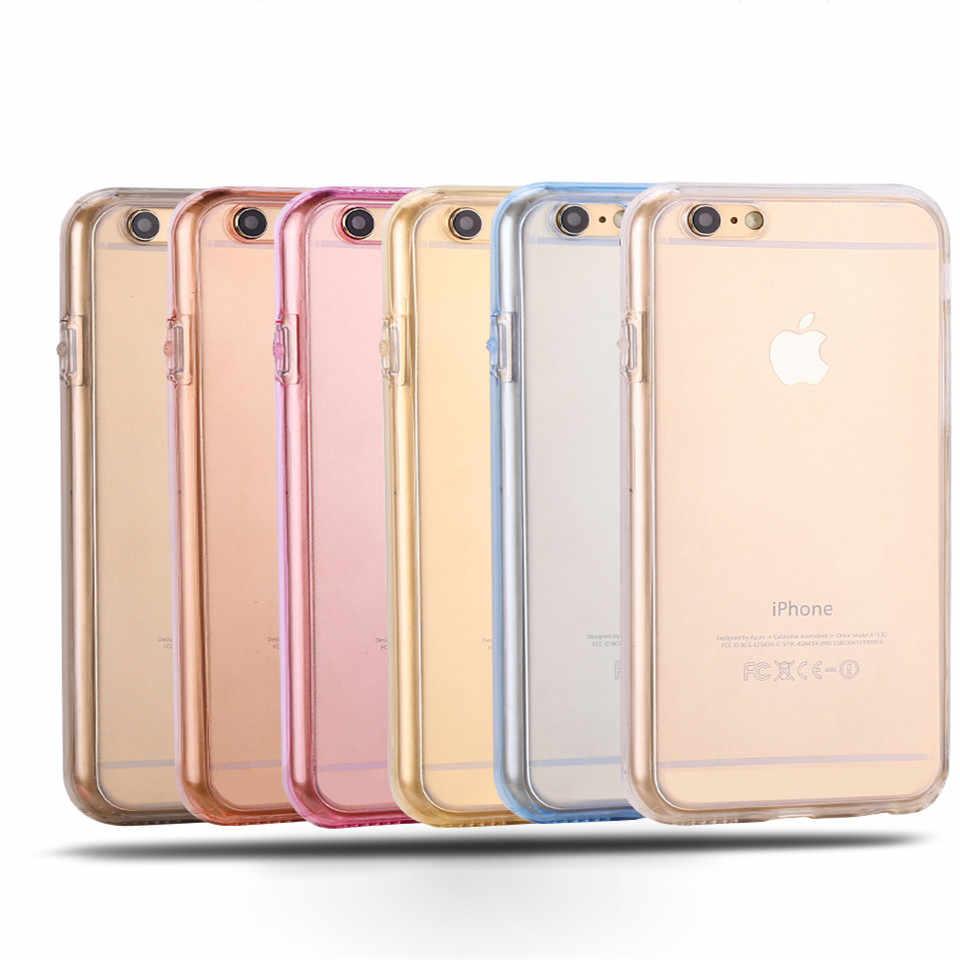 360 Полный Ясно случаи телефона для Apple iPhone 7 Plus SE 5S 6 6s 8 X XR XS MAX huawei P30 Pro P20 Lite P10 Коврики 20 10 чехол силиконовый чехол