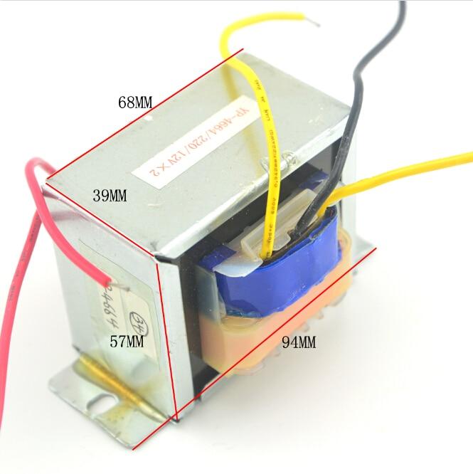ФОТО Input :220V, Output: 12V x 2 /50W,  toroidal transformer power supply transformer Electric Power Transformer EI Ferrite Core