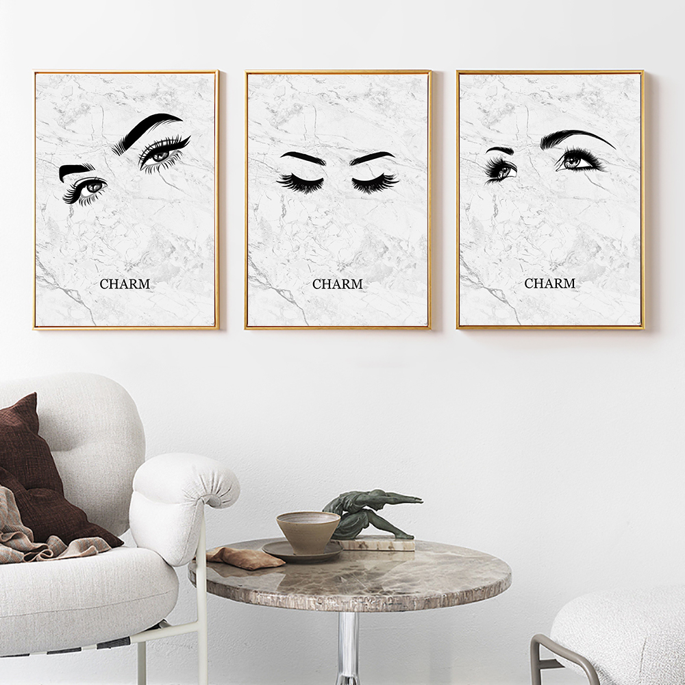 Eye Poster Canvas Painting Abstract Black White Posters And Prints Marble Picture Nordic Living Room Unframed