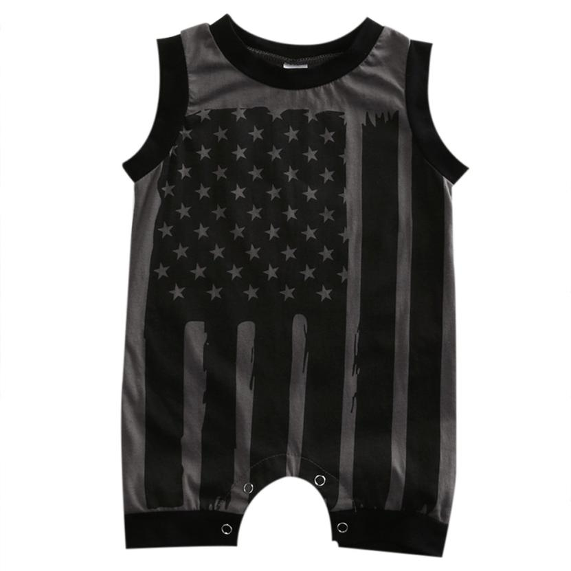 New Summer Rompers Newborn Infant Baby Boy Girl 4th Of July Stars Stripes Romper Baby Clothes Printed American flag Rompers  D40 baby clothing summer infant newborn baby romper short sleeve girl boys jumpsuit new born baby clothes
