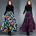 Custom Made 2017 New Arrival Large Size Autumn And Winter Skrits Women's Casual Maxi Long Skirts