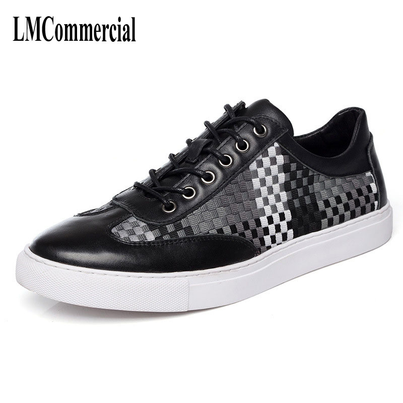 The spring summer men's shoes making color elastic breathable casual shoes handmade fashion the new spring and summer leather shoes breathable sneaker fashion boots men casual shoes handmade fashion