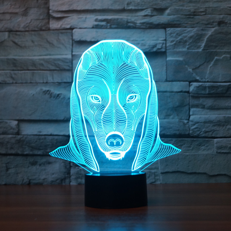 new Pharaoh 3D lights colorful touch LED visual light gift atmosphere desk lamp
