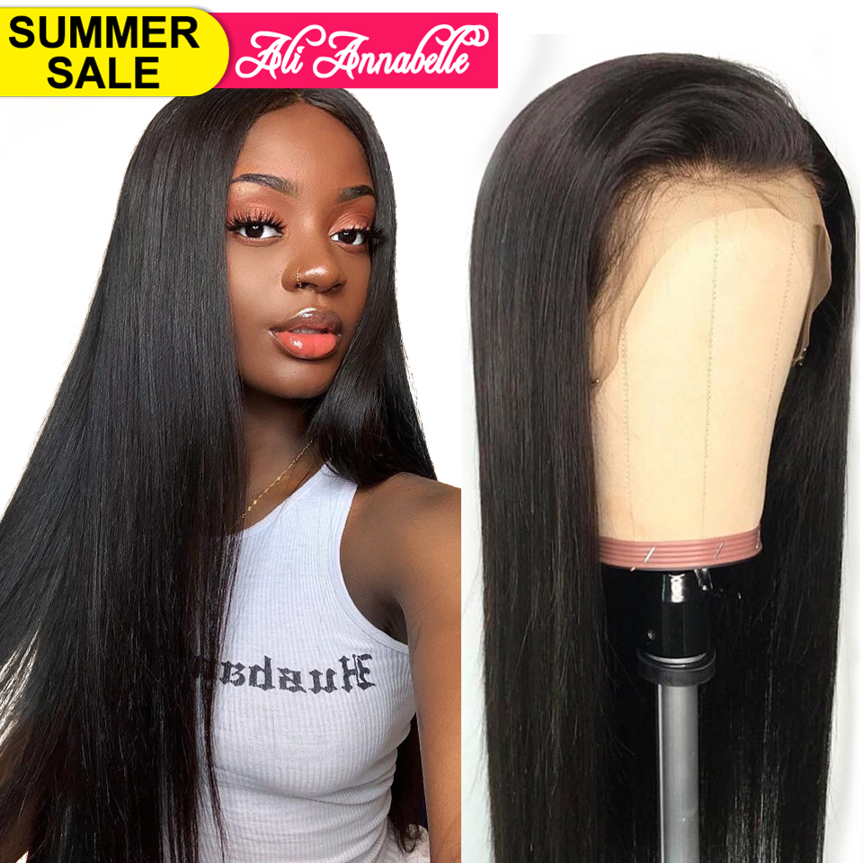 Ali Annabelle Brazilian Straight Lace Front Human Hair Wigs For Women Remy Hair Straight Wig With
