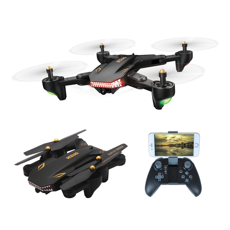VISUO XS809S Foldable Selfie Drone FPV Drones with Camera HD mins flying XS809HW Upgraded Dron RC Quadcopter Helicopter VS E58 1