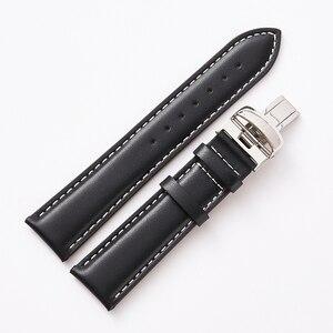 Image 3 - Ремешок для часов, из натуральной кожи, 19 мм, 20 мм, черный, аксессуары для часов, браслет с стальной пряжкой для Tissot 1853 T095