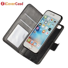 Coque for iPhone 6 Case PU Leather Flip Cover Fundas for iPhone 6s Cases Capa Carcasas Hoesjes 2 in 1 Detachable Magentic Wallet