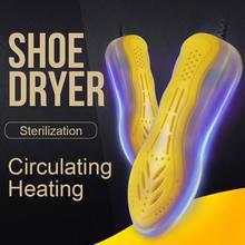 Wysokiej jakości przenośna suszarka do butów UV ultrafioletowe sterylizator do butów szybkie nagrzewanie podgrzewacz do butów suszarka do butów 220V 10W niebieski żółty tanie tanio SEIZON 220 v 10 w Shoe-Dryer-6 Shoe Dryer Blue Yellow 17*6CM Electric Shoe Dryer Portable Shoe Dryer Shoe Heater Shoe Dryer Foot