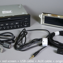 Оригинальное RD45 автомобильное радио USB AUX Bluetooth для peugeot 207 206 307 для Citroen C3 C4 C5 CD проигрыватель обновление RD4 CD аудио автомобиля