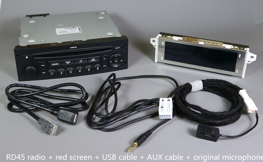 Original RD45 Car Radio USB AUX Bluetooth for Peugeot 207 206 307 for Citroen C3 C4 C5 CD Player Upgrade of RD4 CD Car Audio