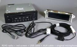 Originele RD45 Autoradio USB AUX Bluetooth voor Peugeot 207 206 307 voor Citroen C3 C4 C5 CD Speler Upgrade van RD4 CD Auto Audio