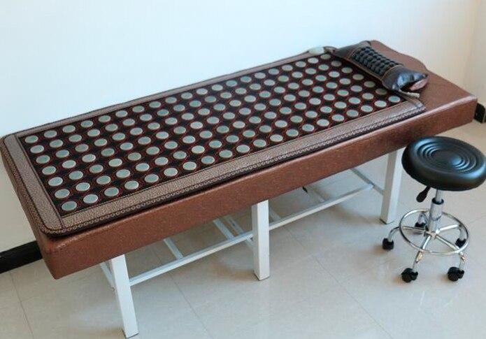 2015 chauffage électrique Massage matelas tourmaline pierre matelas beauté matelas thérapie spa, Tourmaline tapis à vendre 0.7X1.6 M