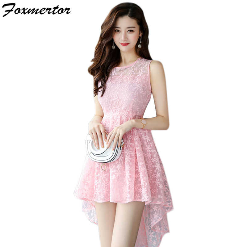 ee2f5cd64c 2019 New Summer Elegant Women Dress Mini Hollow Wedding Party Short ...