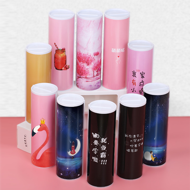 2019 NEW Creative Whiteboard Pencil Case With Solar Calculator Magnetic Switch Kawai Cartoon Pen Box School Writing Case Factory