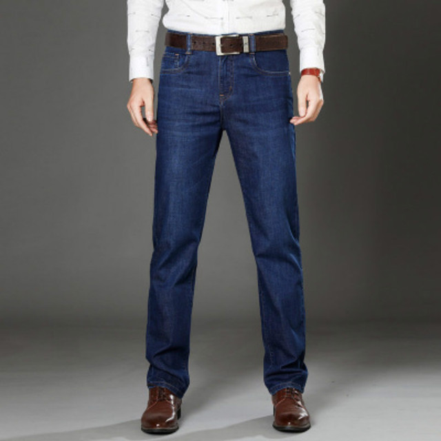 7054c6db49 Jeans Mean Solid Vintage Cotton Pants for Guys 2018 Summer Business Casual  Elasticity Pants Plus Size