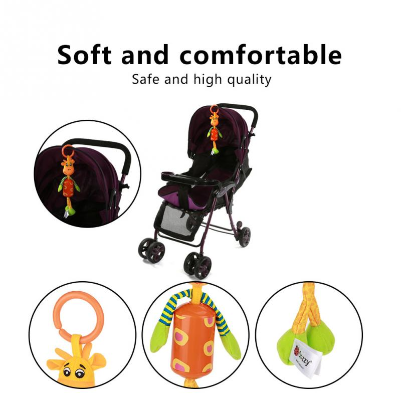 Sozzy Baby Animal Plush Toy Soft Hand Bell Infant Bed Stroller Cartoon Rattle hang it ov ...