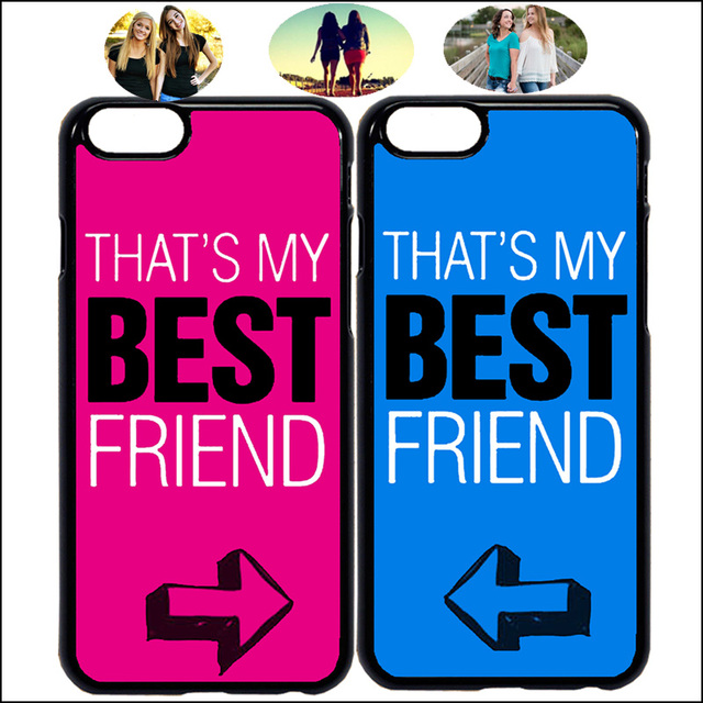 los angeles 46d4c 1b1c6 US $3.0  Cute Arrow That's My Best Friend Matching Phone Case Cover For  iPhone X 7 8 Plus XR Xs Max 6 6s & Samsung + Tempered Glass A40-in Fitted  ...