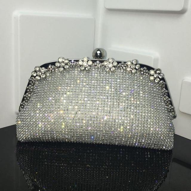 55adbe77af 2016 New Rhinestone Evening Clutch Bag Rhinestone Makeup Bag Women Handbag  Purese Shiny Rhinestone Clutch Bag