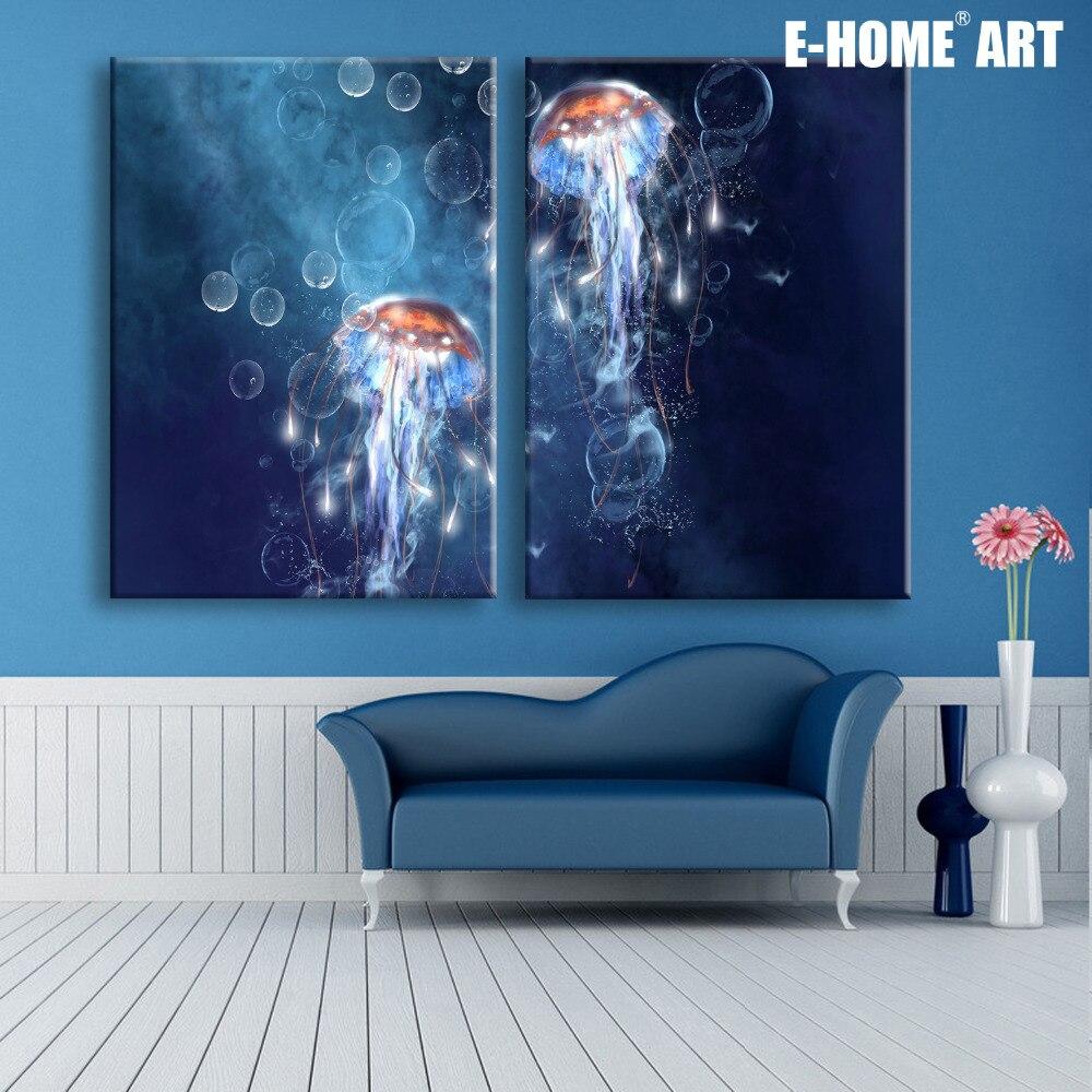 Led Wall Light Flashing: Stretched Canvas Prints Jellyfish LED Flashing Optical