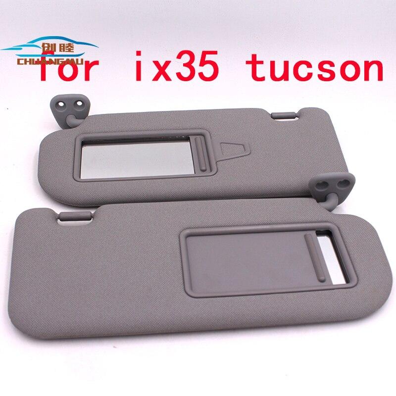 CHUANGMU For HYUNDAI ix35 tucson Sun visor Sunshade assembly 85201-0R300X6 85202-0R300X6 grayCHUANGMU For HYUNDAI ix35 tucson Sun visor Sunshade assembly 85201-0R300X6 85202-0R300X6 gray