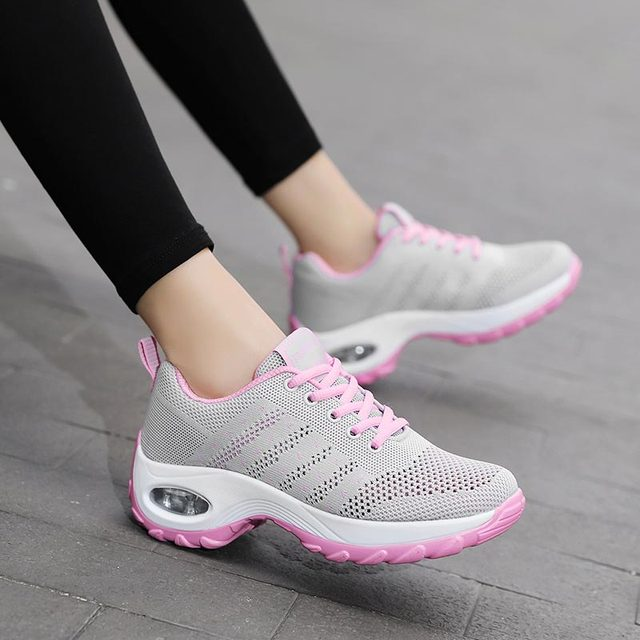 Women sneakers 2019 new solid breathable mesh lace-up casual shoes woman sneakers women sport shoes wimen shoes zapatos de mujer
