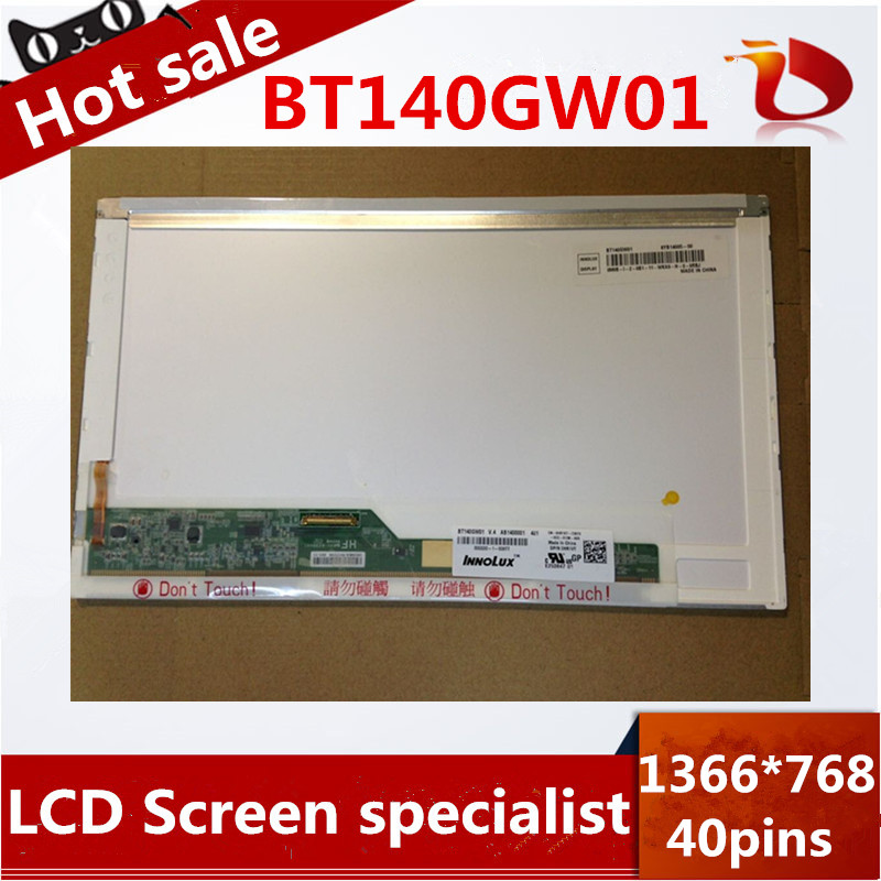 ФОТО Free shipping Gread A+14inch Laptop LED screen for INNOLUX display BT140GW01 1366*768 40Pins