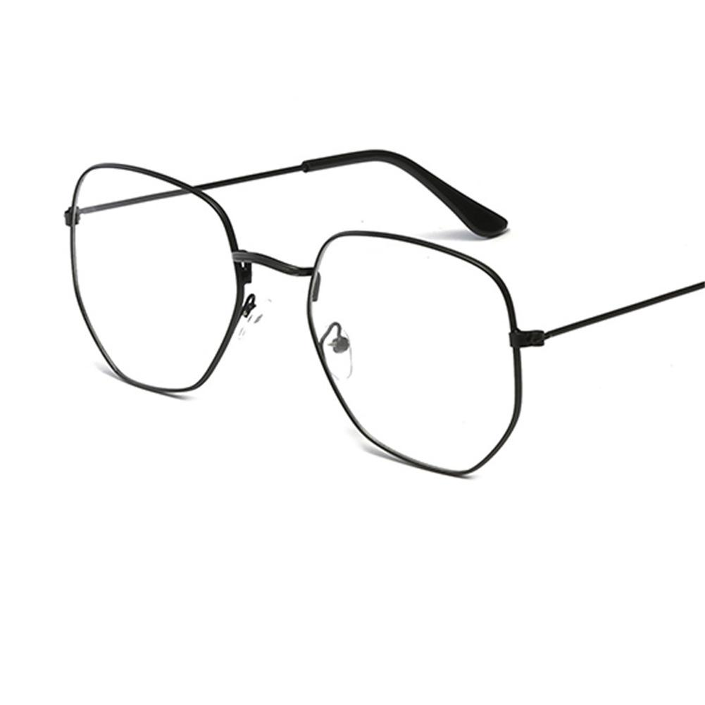 Confident College Style Unisex Metal Square Rim Plain Glass Spectacles Large Frame Asymmetrical Polygon Radiation Protection Glasses Catalogues Will Be Sent Upon Request Apparel Accessories Men's Glasses