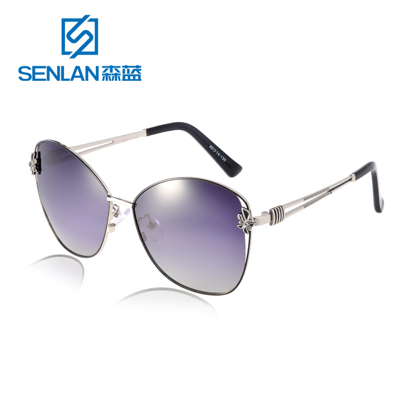 Excellent Quality High-Nickel Alloy Vintage Large Frame Women HD Polarized Sunglasses Sun Glasse Outdoor Sports Eyewears 9501