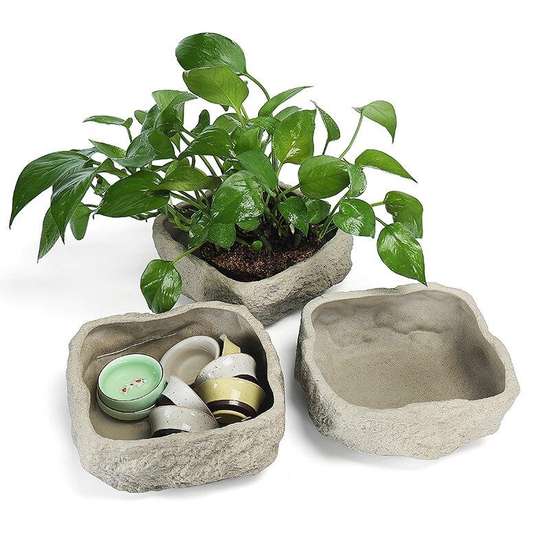 Stone Imitation Handmade Ceramic Flower Vase Hydroponic Coarse Pottery Water Flowers Inserted In flower pot home decor accessori