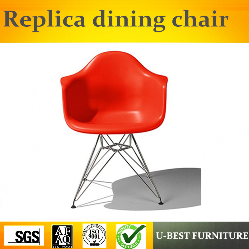 Free shipping U-best  replica molded plastic wire-base armchair with metal legs, Modern designer chairsFree shipping U-best  replica molded plastic wire-base armchair with metal legs, Modern designer chairs